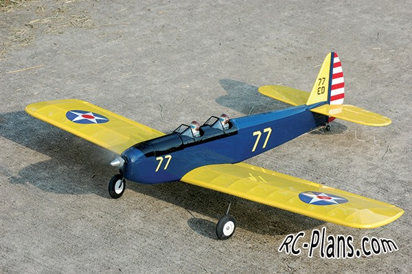 free plans rc airplane PT-19 Sport Scale