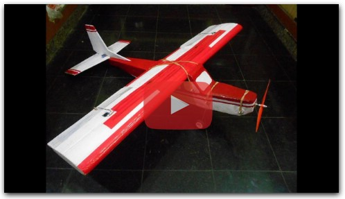 Homemade RC Plane from India, Maiden flight