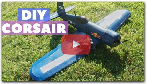 MY FİRST DIY RC AİRPLANE (F4U CORSAİR)