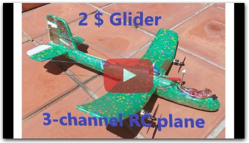 How to Aliexpress foam glider conversion to 3 channel radio-controlled plane.