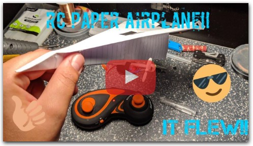 DIY RC paper airplane!!