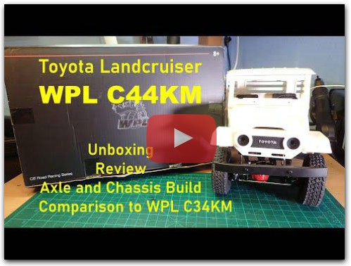 WPL C44KM Landcruiser: Unboxing, Build, Review and Comparison with WPL C34KM