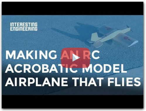 Making an RC acrobatic model airplane / DIY