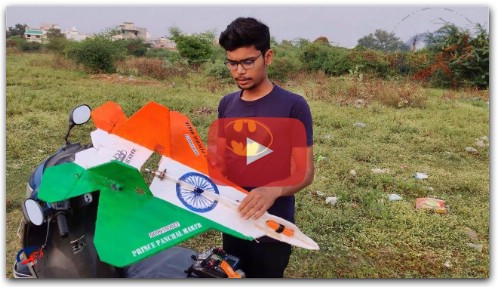 RC Plane F- 22 Raptor fly MAKE IN INDIA