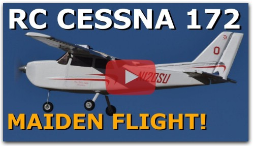 Cessna 172 Scratch Built RC Plane - MAIDEN FLIGHT