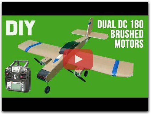 How To Make Twin DC 180 Motors RC Airplane. DIY RC Plane