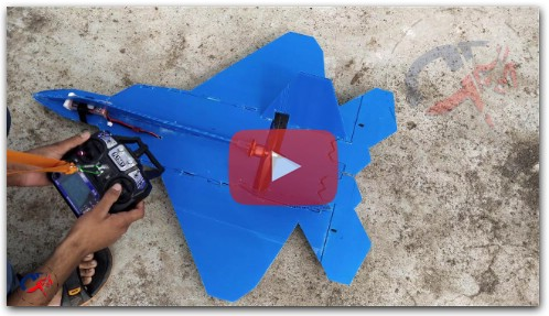 How to make coro sheet rc F -22 fighter