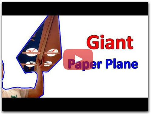 How to make Giant Paper Plane | RC Paper Plane