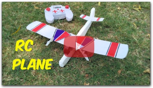 How To Make mini RC Air Plane at home