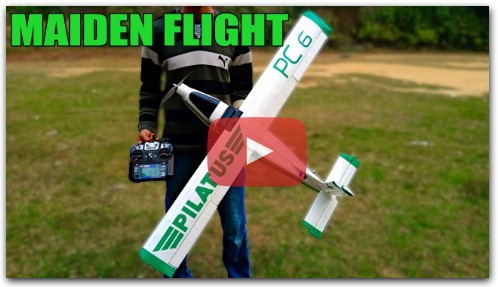 RC Pilatus PC 6 PORTER | DIY Model RC Airplane