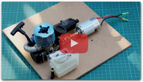 How To Make a Generator with RC Nitro Engine?