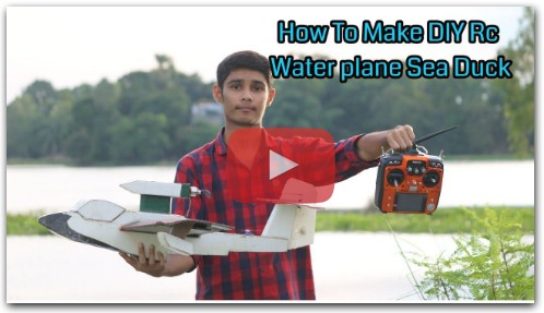 How To Make DIY Rc Water Plane Sea Duck HD