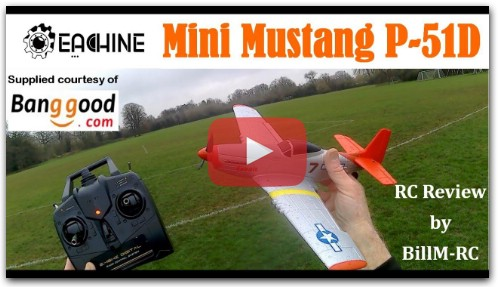 Eachine Mini Mustang P-51D RTF Airplane review