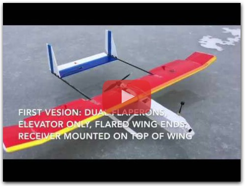 Build Video for diy RC plane, Twin Boom Pusher