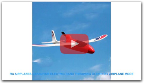 RC Airplanes Capacitor Electric Hand Throwing Glider