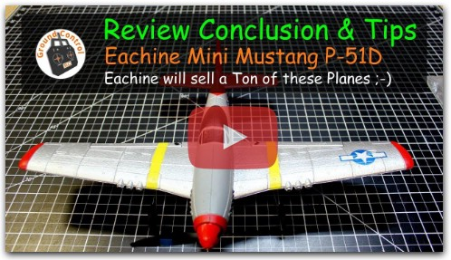 Review Eachine Mini Mustang P-51D RTF