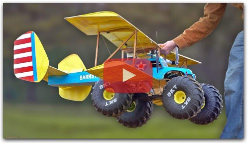 FLYING MONSTER Truck RC airplane car!