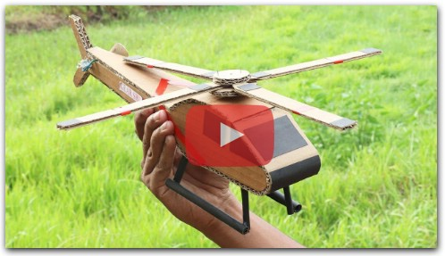 How To Make RC Helicopter With Cardboard