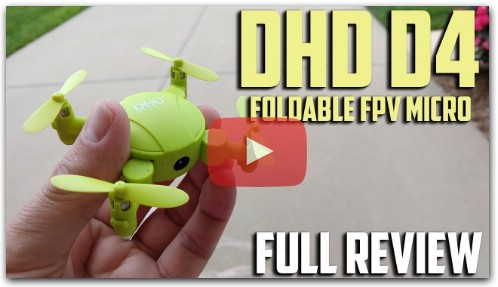 DHD D4 Micro Foldable WIFI FPV Drone Review