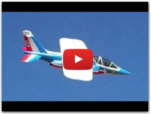 Alpha Jet With Scratch Built Trainer Wing