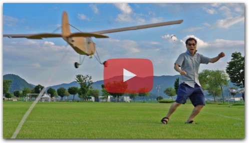 STORCH cut tail of SCOUT crash sportster RC airplane DIY