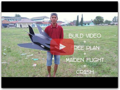 make rc plane F117 STEALTH DEPRON Build Video