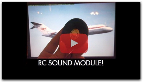How to make your own RC Sound module for RC aircraft!