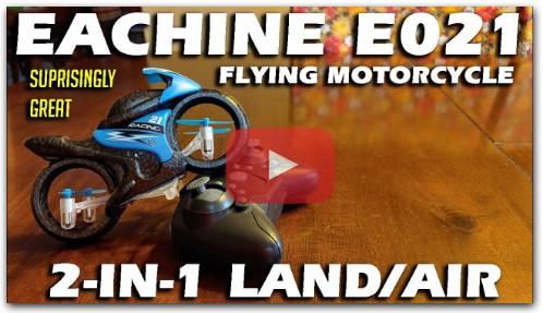 Eachine E021 2-in-1 Land/Air Mode Flying Motorcycle Review