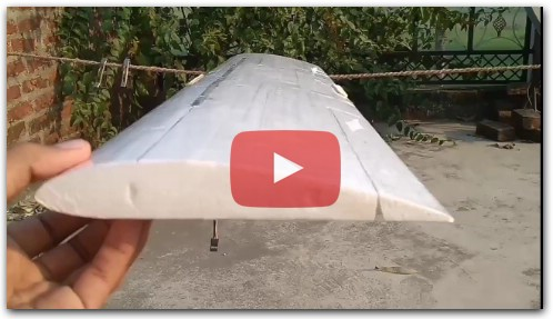 DIY Home Build RC Plane Thermocol Wing