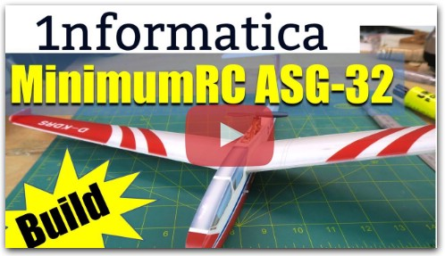 MinimumRC ASG 32 Glider 560mm Wingspan Foam RC Airplane KIT Build
