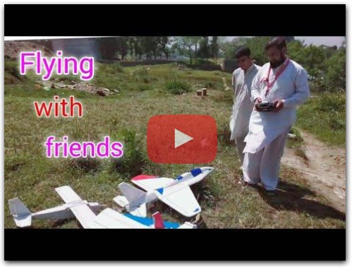 How To build RC airplane an Flight test  and landing