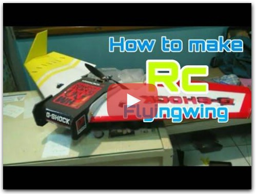 How to make Rc flying wing homemade (DIY)