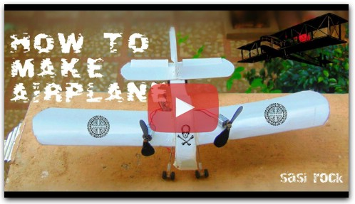 How To Build an Easy RC Airplane using Cardboard airplane