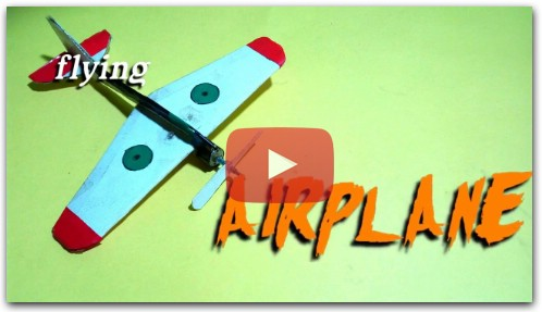 how to make a flying airplane /a flying toy (indoor)