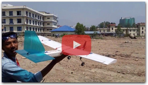 Scratch Build Rc plane Flight Nepal