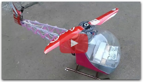 HOW TO MAKE A HELICOPTER/DIY*( Bell- 47)