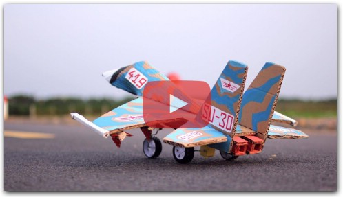 How to Make a Aeroplane with Cardboard at Home - Diy Airplane - Rc Su 30 Fighter Jet Easy