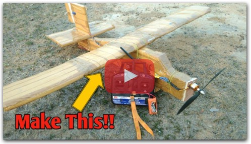 How To Make a RC Plane at Home!