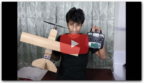 How To make a RC Air Plane ( cardboard )
