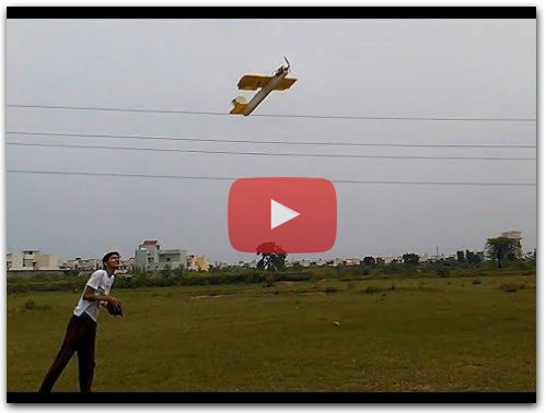 Flight test homemade Rc Plane