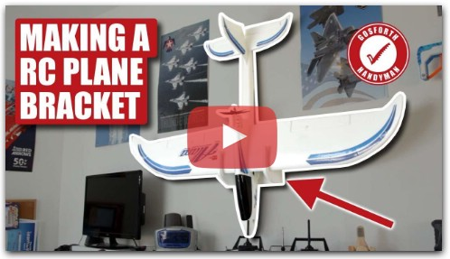 How to Make A RC PLANE WALL MOUNT Bracket
