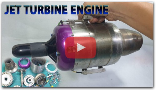 What's inside Jet Turbine Engine RC Plane