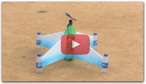 How to make a plane - flying bottle airplane
