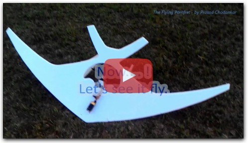 Simple RC plane - no moving control surface at all