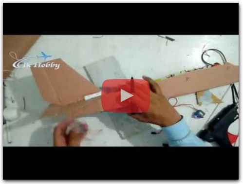 How to make RC airplane with lightweight cardboard sheets