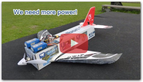 Flying carton - homemade RC plane