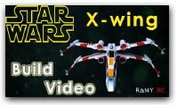 STAR WARS: X-Wing starfighter Red5 (RC airplane) build video by Ramy RC
