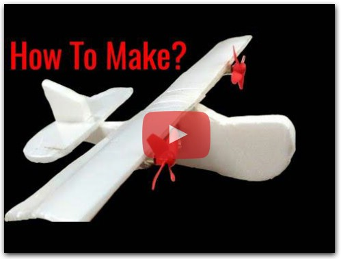 How To make a Mini 2 Channel Remote Control Airplane at Home