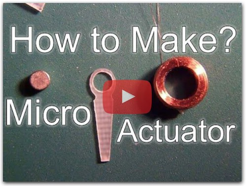 How to make Micro Actuator Servo for Micro RC Planes?