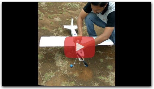 My home made RC plane successful flying